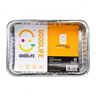 GOODLIFE 14 5 Rectangle Foil Container 2'S