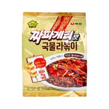 NONG SHIM Black Bean Sauce Flavor Ramen cooktam Stir fried Rice Cake 380G