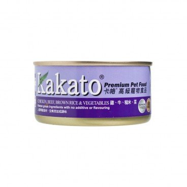 KAKATO Chicken Beef Brown Rice Vegetables 170G