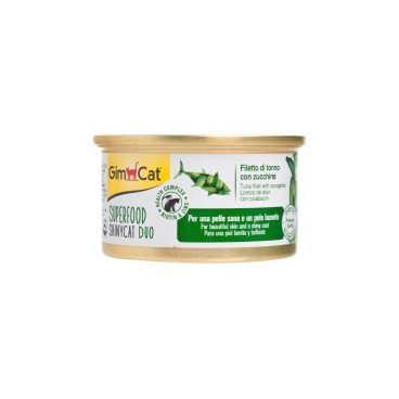 GIMCAT Shinycat Superfood Duo Tuna Fillet With Zucchini 70G
