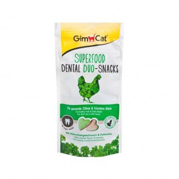 GIMCAT Superfood Dental Duo snacks Chicken parsley 40G