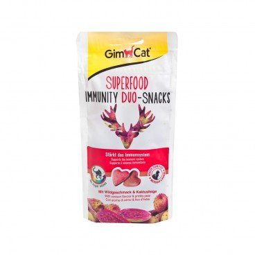 GIMCAT Superfood Immunity Duo snacks Venison prickly Pear 40G