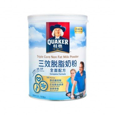 QUAKER - Triple Care Non Fat Milk Powder - 750G