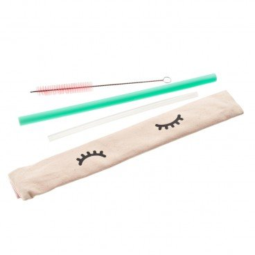CHECKCHECKCIN - Set silicon Straw green Thick clear Thin - SET