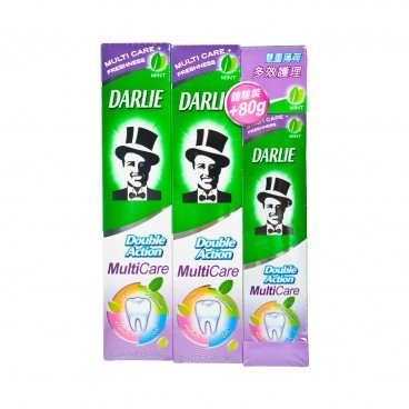 DARLIE Double Action Multi Care Toothpaste Package 180GX2 +80G
