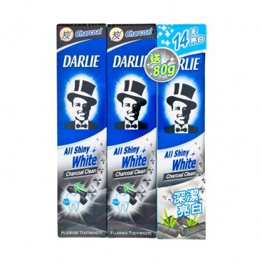 DARLIE All Shiny White Charcoal Clean Toothpaste Package With Free Toothpaste 140GX2+80G