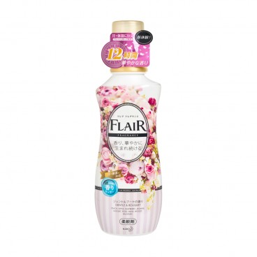 KAO - Flair Fragrance 12 Hours Fabric Softener gentle Bouquet - 570ML