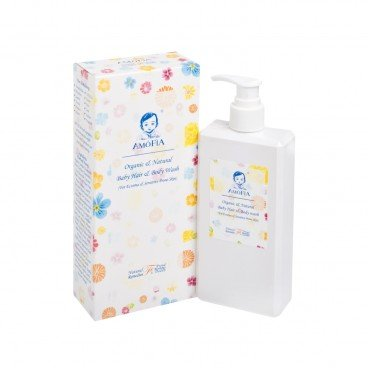 AMOFIA Organic Natural Hypoallergenic Baby Hair And Body Wash 300ML