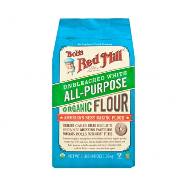 BOB'S RED MILL Organic Unbleachedwhite All Purposeflour 1.36KG
