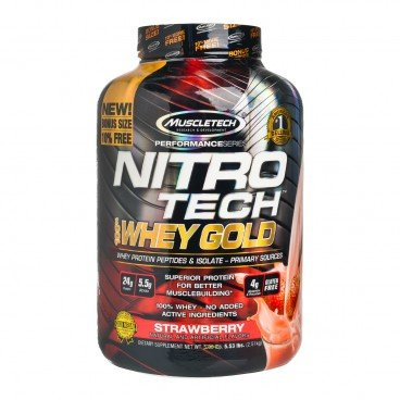 MUSCLETECH Nitrotech whey Gold Protein strawberry 2.51KG