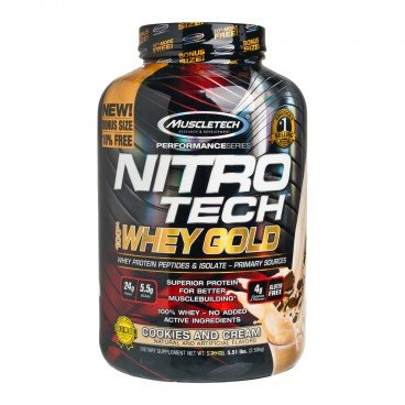MUSCLETECH Nitrotech whey Gold Protein cookie Cream 2.50KG
