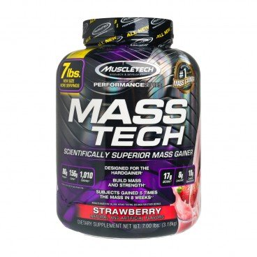 MUSCLETECH Mass Tech protein Powder strawberry 3.18KG