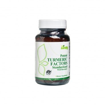 LIVELY Potent Tumeric Factors Standardized With Rosemary 60'S