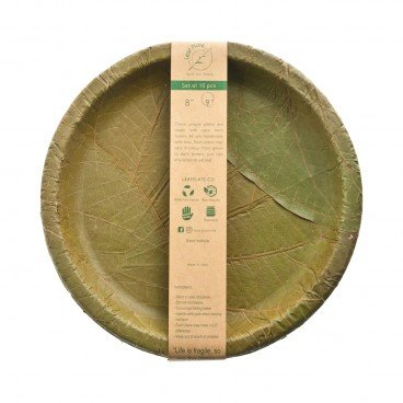 LEAF PLATE 9 Buffet Plate 10PCS
