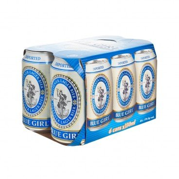 BLUE GIRL Beer Can 330MLX6