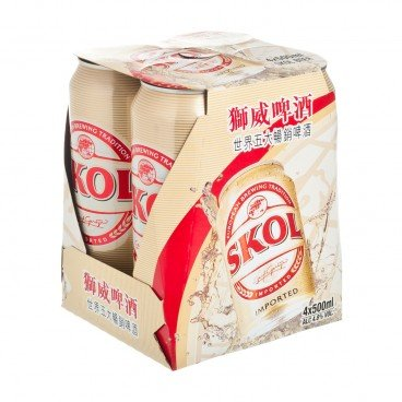 SKOL - Beer King Can - 500MLX4