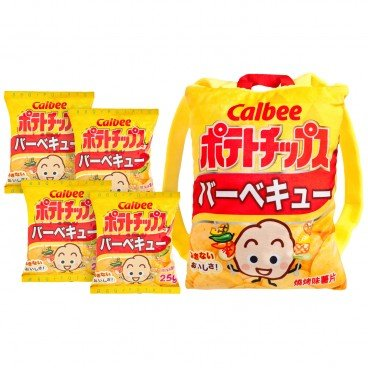 CALBEE Bbq Flavored Potato Chips With Backpack 25GX4+PC