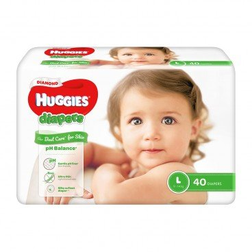 HUGGIES - Diamond Diaper L - 40'S