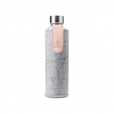 MISMATCH GLASS WATER BOTTLE-PINK BREEZE