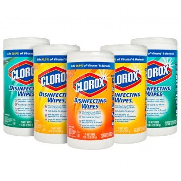 CLOROX(PARALLEL IMPORT) - Disinfecting Wipes Crisp Lemon Fresh Scent And Orange Fusion - 78'SX5
