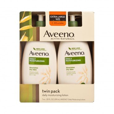 AVEENO Aveenodaily Moisture Lotion Fragrance Free Twin Pack 591MLX2