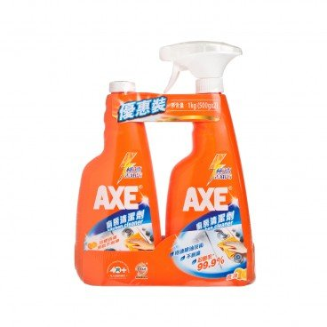 AXE - Kitchen Cleaner With Refill Orange - SET