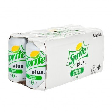 SPRITE Sprite Plus lemon lime Flavoured Soda 330MLX8