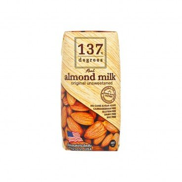 137 DEGREES Almond Mil unsweetened 180ML