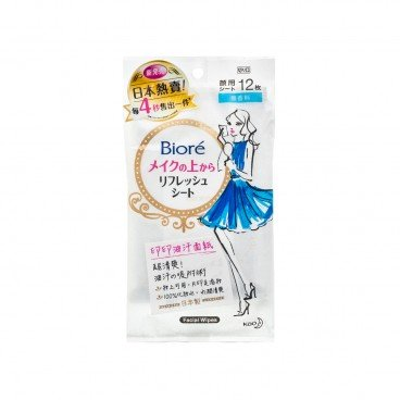 BIORE Refreshing Facial Sheet Unscented 12'S