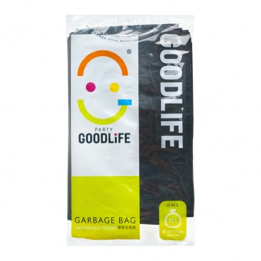 GOODLIFE 70 l Degradable Black Garbage Bag 10'S