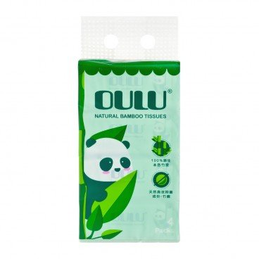 OULU Bamboo 3 ply Soft Pack Facial Tissue 4'S