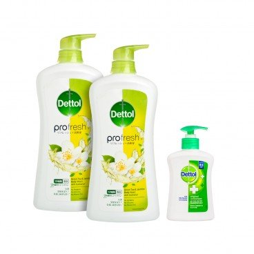 DETTOL - Profresh Green Tea Jasmine Body Wash - SET