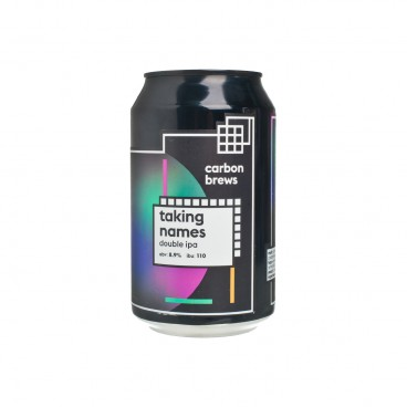 CARBON BREWS TAKING NAMES-DOUBLE IPA 330ML