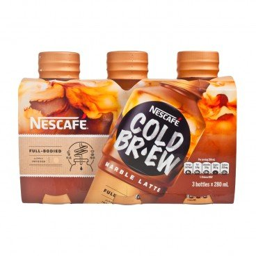 NESCAFE - Cold Brew Coffee Beverage marble Latte - 280MLX3