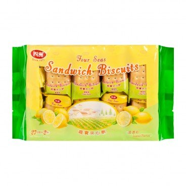 FOUR SEAS - Sandwich Biscuits Lemon Flavour - 454G