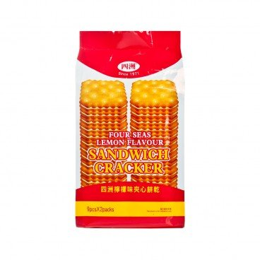 FOUR SEAS Lemon Flavour Sandwich Cracker 156G