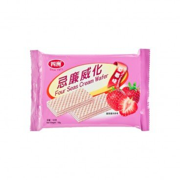 FOUR SEAS - Cream Wafer Strawberry Flavour - 50G