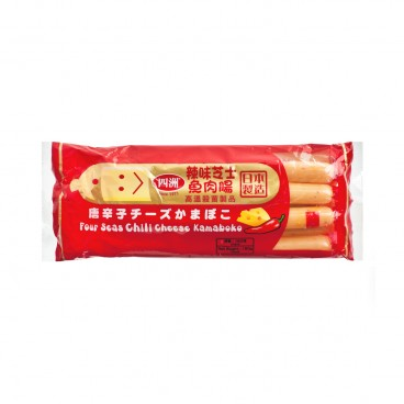 FOUR SEAS Chili Cheese Kamaboko Fish Sausage 160G