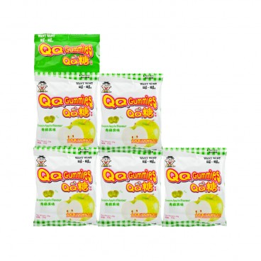 WANT WANT Hot Kid Fruit Gummy Apple Flavor 25GX5