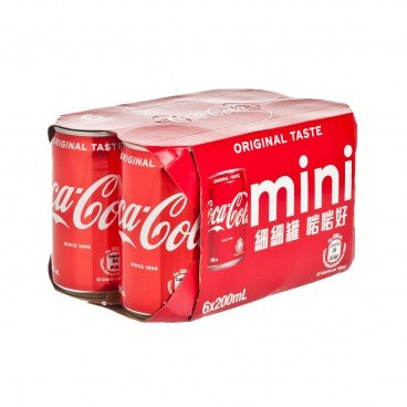 COCA-COLA - Mini Can - 200MLX6