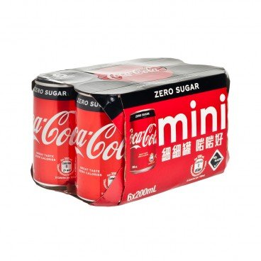 COCA-COLA Coke Zero mini Can 200MLX6