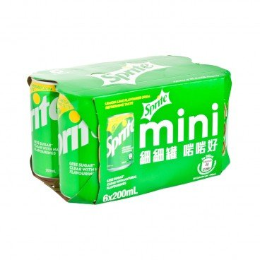SPRITE - Lemon lime Flavoured Soda Mini Can - 200MLX6