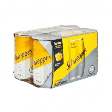 SCHWEPPES Tonic Water Mini Can 200MLX6