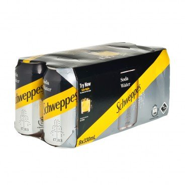SCHWEPPES Soda Water Can 330MLX8