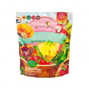 GREENDAY Happy Fruit Farm 5 Colors Crispy Fruit Veggie 46G
