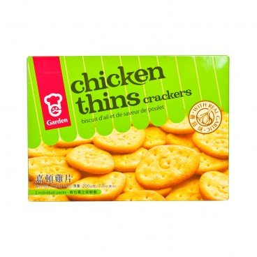 GARDEN Chicken Thins Crackers garlic 200G