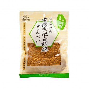 OHSAWA - Organic White Sesame Brown Rice Cracker - 60G