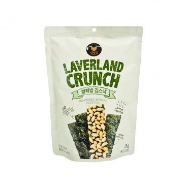 MANJUN - Laverland Crunch Seaweed Snack Filled With Rice Pop - 25G