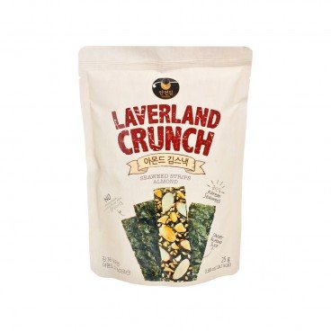 MANJUN - Laverland Crunch Seaweed Snack Filled With Almond - 25G