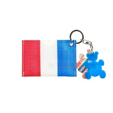 RED WHITE BLUE 330 Octopus Pouch With Bear Key Chain PC